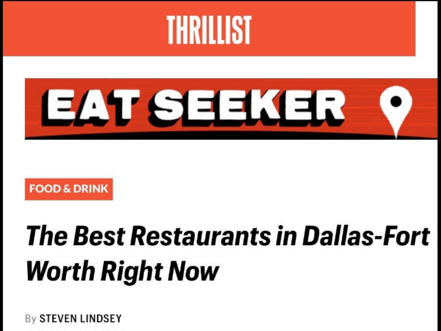 The Best Restaurants in Dallas-Fort Worth Right Now